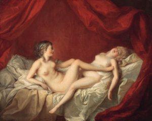 """Pintura """"Les Deux Amies"""", de Louis Jean François Lagrenée"""
