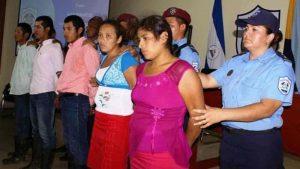 Cinco pessoas foram detidas sob suspeita de terem participado do episódio que culminou com morte de Vilma Trujillo (Foto: Polícia Nacional da Nicarágua)